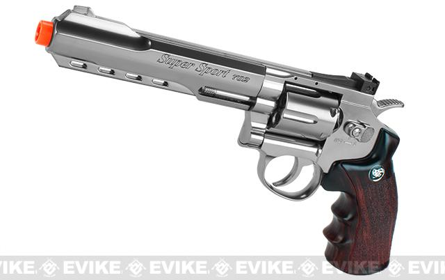 WG CO2 Full Metal High Power Airsoft 6mm Magnum Gas Revolver (Length: 6 / Silver)