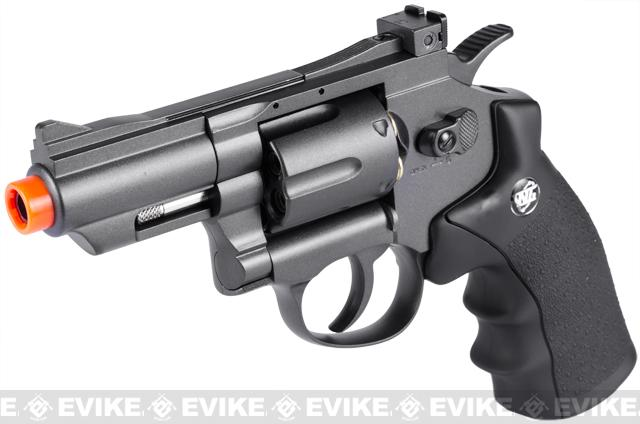 WG CO2 Full Metal High Power Airsoft 6mm Magnum Gas Revolver (Length: 2 / Black)