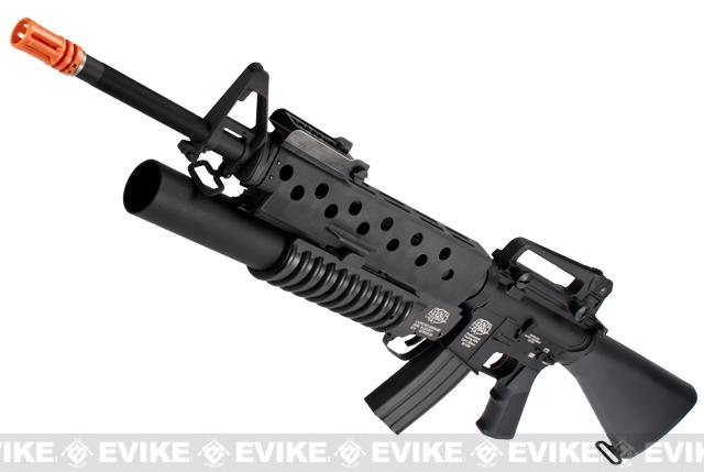 G&P Scar Face M16A3 M16 VN Airsoft AEG Rifle w/ M203 Grenade Launcher (Package: Add Battery + Charger)