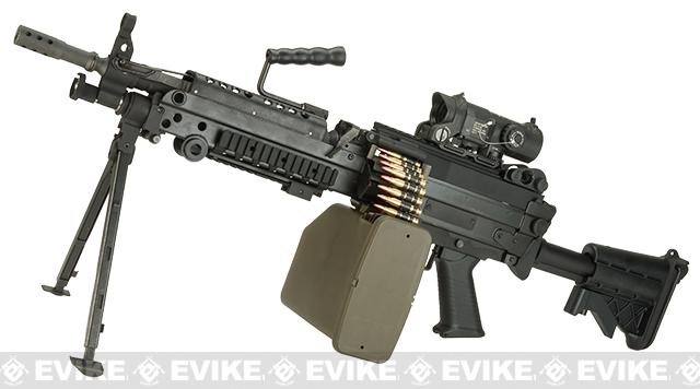 G&P M249 SAW Airsoft AEG Rifle with Collapsible Stock (Package: MK46 Version / Add Battery and Charger)