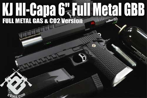 KJW Xcelerator 6 Hi-CAPA Full Metal Airsoft Gas Blowback Gun (Model: CO2/ Black)