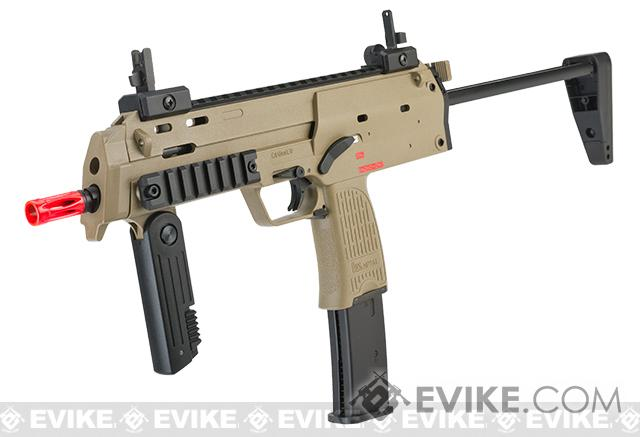 H K Umarex Mp7 Rapid Deployment Hard Kick Airsoft Gas Blowback By Kwa Color Desert Tan Add 2 Co2 Magazines