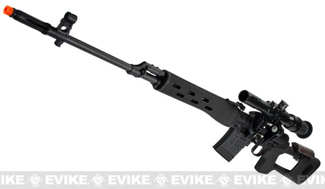 AIM Gas Blowback Russian Classic AK SVD Airsoft GBB Sniper Rifle w/ Scope (Color: Black)