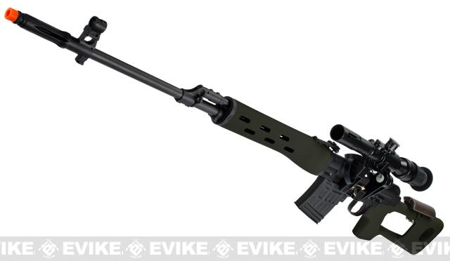 AIM Gas Blowback Russian Classic AK SVD Airsoft GBB Sniper Rifle w/ Scope (Color: OD Green)