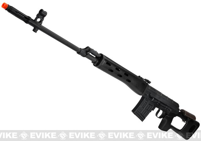 AIM Co2 High Power Gas Blowback AK SVD Airsoft GBB Sniper Rifle (Color: Black)