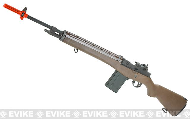 Evike Custom 500 FPS M14 Airsoft Gas Blowback Sniper Rifle by WE (Metal / Imitation Wood)