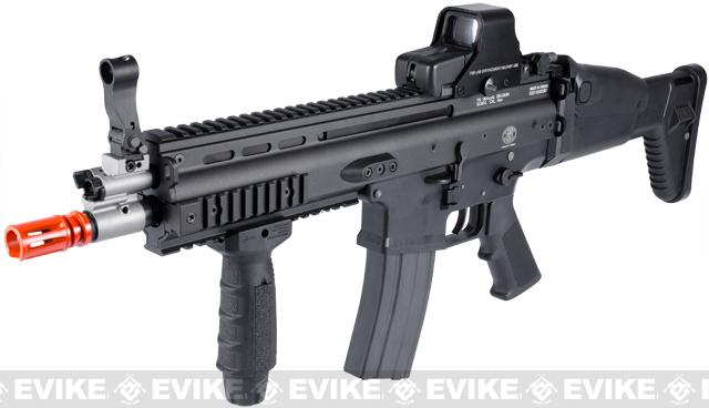 FN Licensed Open Bolt SCAR-L CQC Airsoft GBB Rifle by WE (Color: Black / Standard Mag)