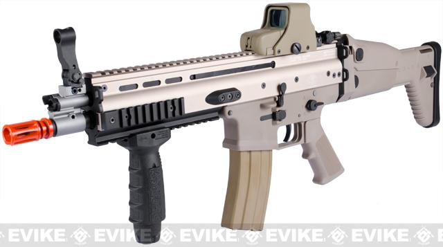 FN Licensed Open Bolt SCAR-L CQC Airsoft GBB Rifle by WE (Color: Tan / Standard Mag)