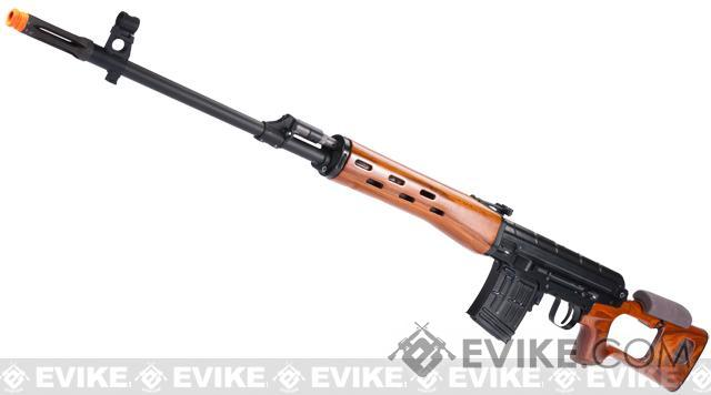 WE-Tech SVD Airsoft Gas Blowback Sniper Rifle - Real Wood Furniture / Aluminum Receiver