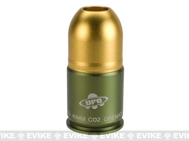 Guarder UFO CO2 Powered 40mm Airsoft Grenade for Use with 17mm Paintballs