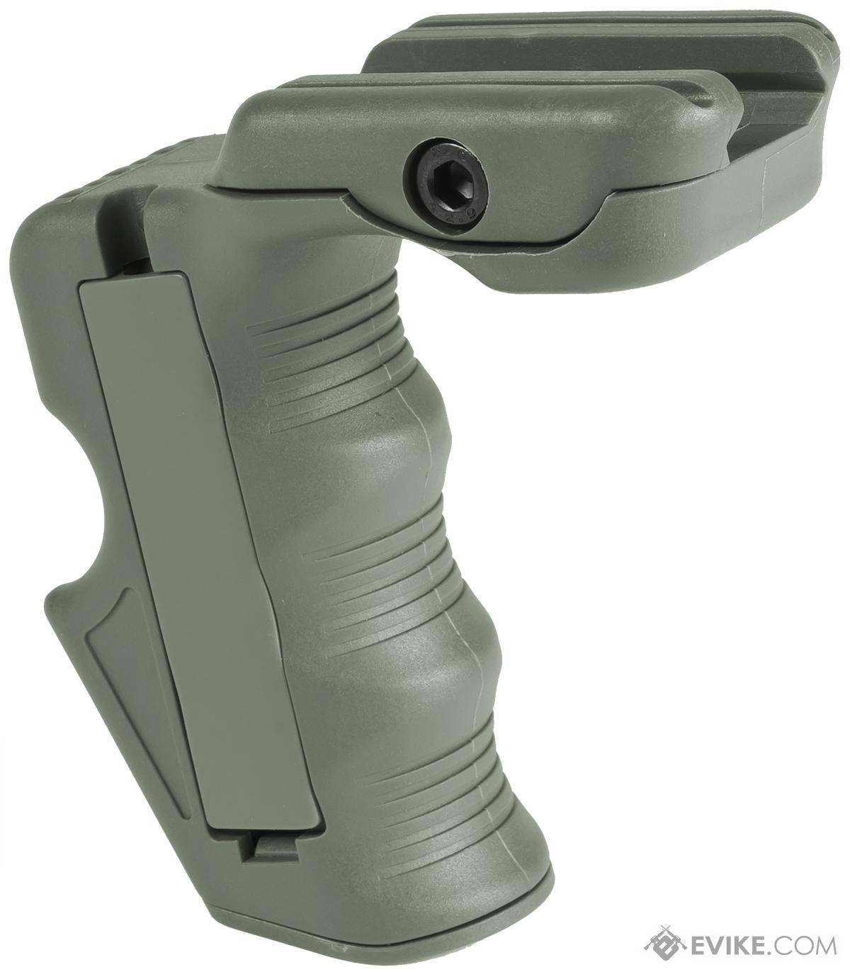 BD Vertical Support Grip for Airsoft RIS (Color: Foliage Green)