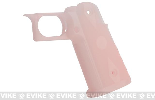 Custom IPSC Grip for HICAPA Series Airsoft Gas Blowback Pistols - Pink (Glow In The Dark)