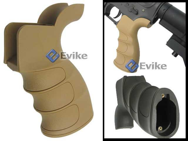 Matrix G27 Grooved Motor Grip for M16 / M4 Series Airsoft AEG Rifle (Color: Desert Tan)