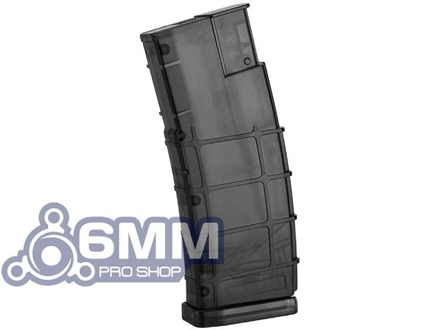 6mmProShop 500 Round Rifle Mag Size Airsoft Universal BB Speed Loader (Color: Smoke)
