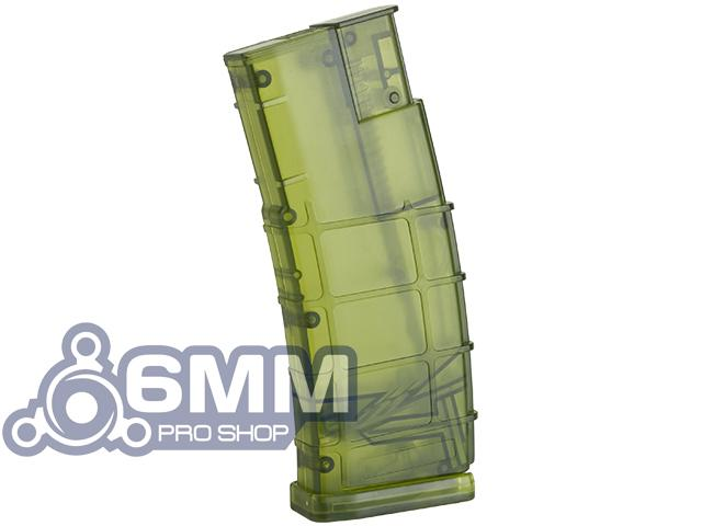 6mmProShop 500 Round Rifle Mag Size Airsoft Universal BB Speed Loader (Color: Jungle Green)