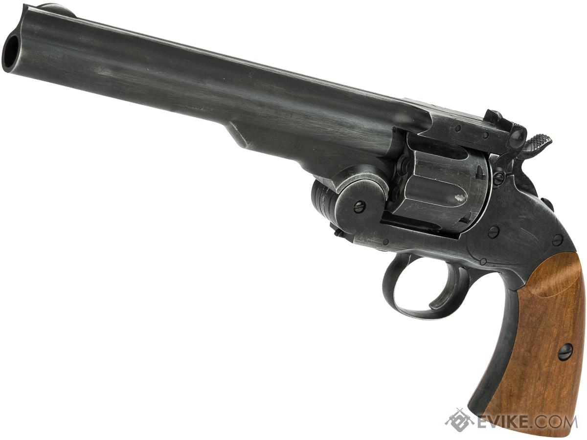 WinGun Break Top Major 3 1877 CO2 Powered Airsoft Revolver (Color: Antique Black)