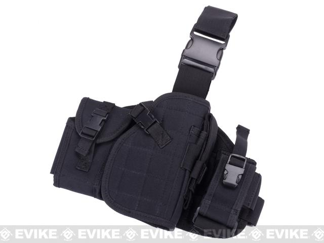 Lancer Tactical MOLLE Platform Drop Leg Holster (Color: Black)