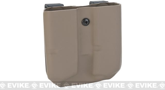 KAOS Concealment Custom Kydex Pistol Magazine Holster - 9mm and .40cal (Color: Dark Earth)