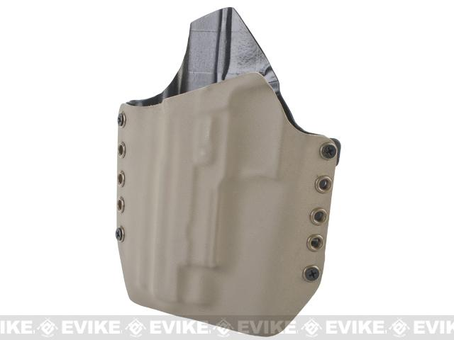 KAOS Concealment Kydex Belt / MOLLE Holster - KWA P226 (Left / Dark Earth)