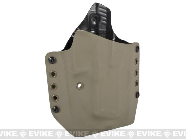 KAOS Concealment Belt / MOLLE Kydex Holster (Model: KWA ATP / Dark Earth / Right Hand)