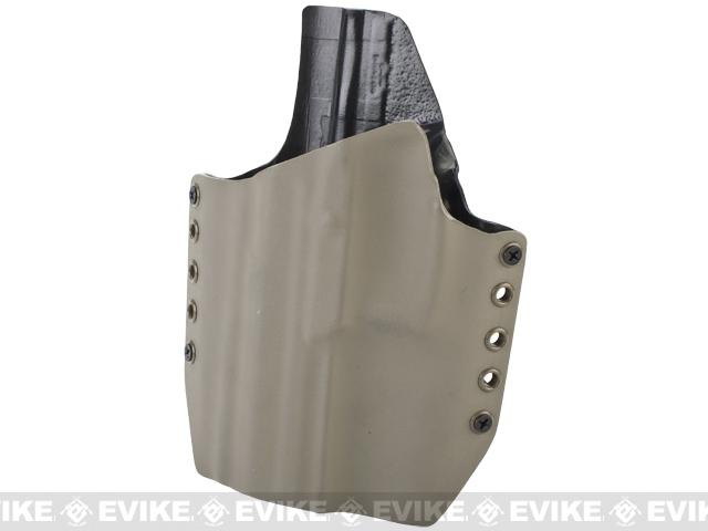 KAOS Concealment Belt / MOLLE Kydex Holster (Model: KWA USP MK23 / Dark Earth / Left Hand)