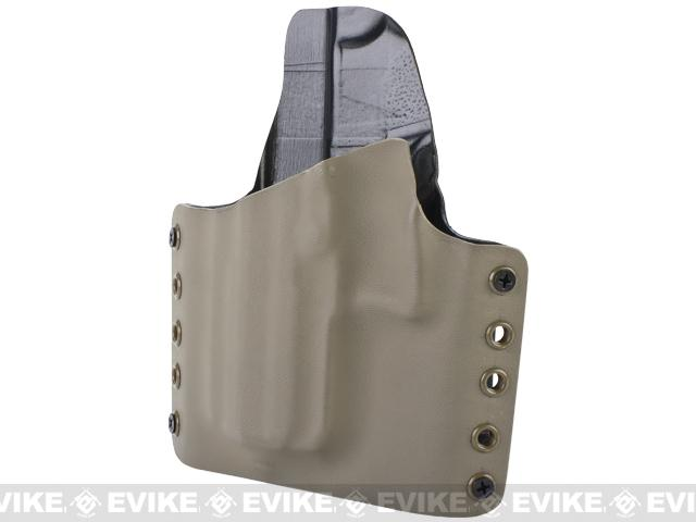 KAOS Concealment Kydex Belt / MOLLE Holster - KWA USP Tactical (Left / Dark Earth)