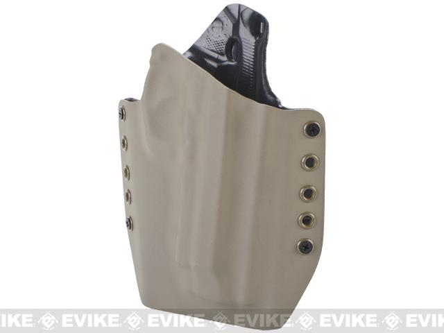 KAOS Concealment Belt / MOLLE Kydex Holster (Model: M9 / Dark Earth / Left Hand)
