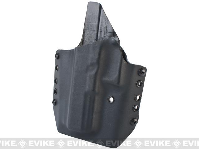 z KAOS Concealment Kydex Belt / MOLLE Holster - Glock 17 (Left / Black)