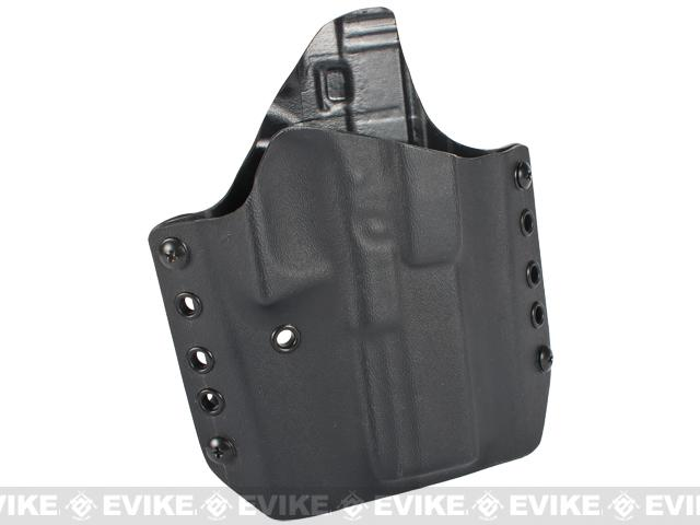 KAOS Concealment Belt / MOLLE Kydex Holster (Model: Glock 17 / Black / Right Hand)
