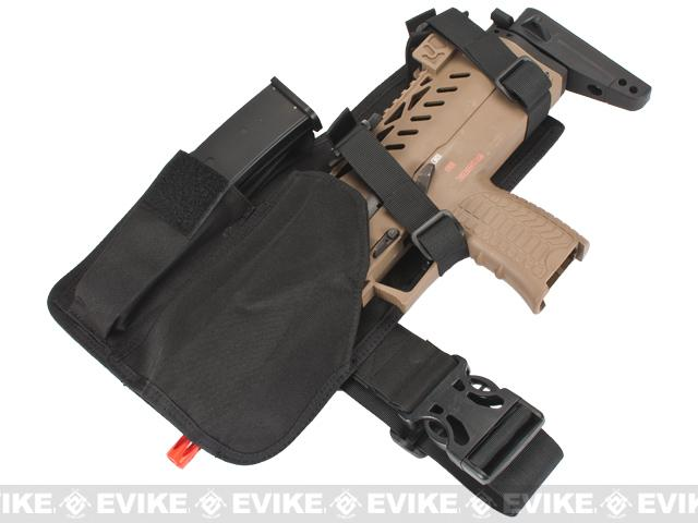Matrix MP7 Leg Holster with Spare Magazine Pouch - Black