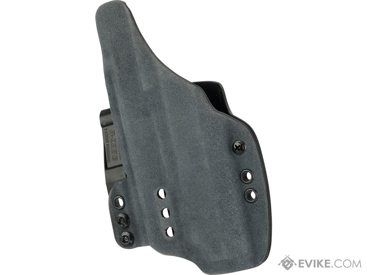 Haley Strategic INCOG IWB Holster System with Full Guard by G-Code (Color: Slate Blue / Glock 19 with Inforce APL)