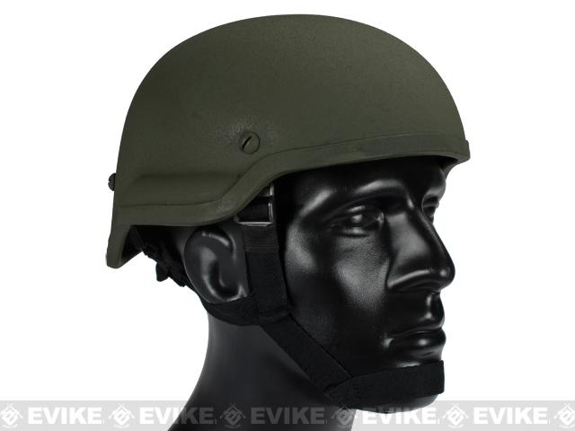MICH 2002 Replica Kevlar Helmet by Lancer Tactical / Matrix  - OD Green