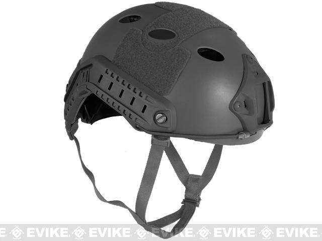 6mmProShop Bump Type Tactical Airsoft Helmet (Type: PJ / Advanced / Black)
