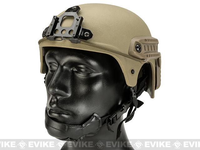 (FREEDOM DEALS!) Matrix Professional Grade Airsoft IBH Helmet w/ NVG Mount Base & Rails - Tan