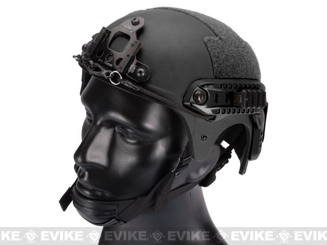z Matrix Professional Grade Airsoft IBH Helmet w/ NVG Mount Base & Rails - Black
