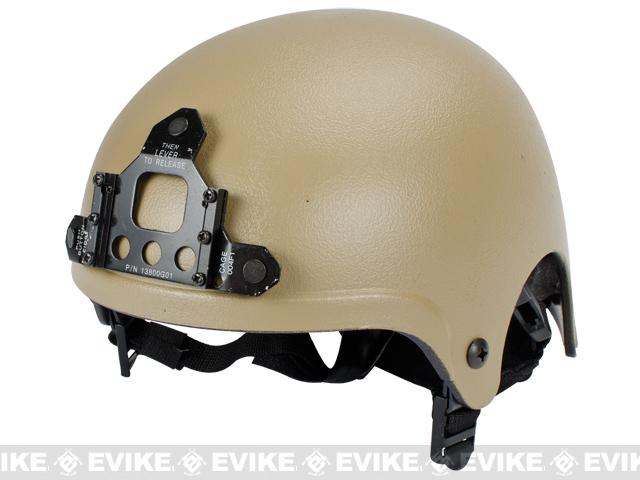 Light Weight IBH Airsoft Helmet w/ NVG Mount by Matrix / Lancer - Tan
