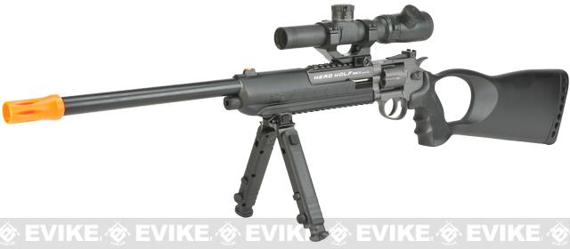 Win Gun M117 CO2 Powered Herd Wolf Revolver Carbine (Package: Gun + Bipod and Laser Unit)