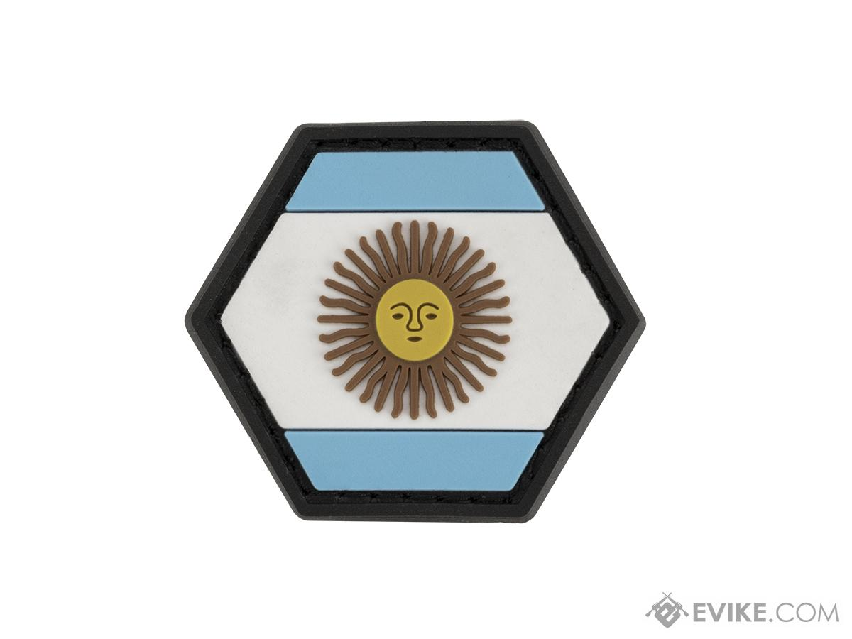 Operator Profile PVC Hex Patch Flag Series (Country: Argentina)