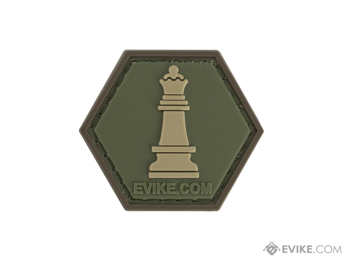 Operator Profile PVC Hex Patch  Chess Series (Piece: Queen / OD Green)