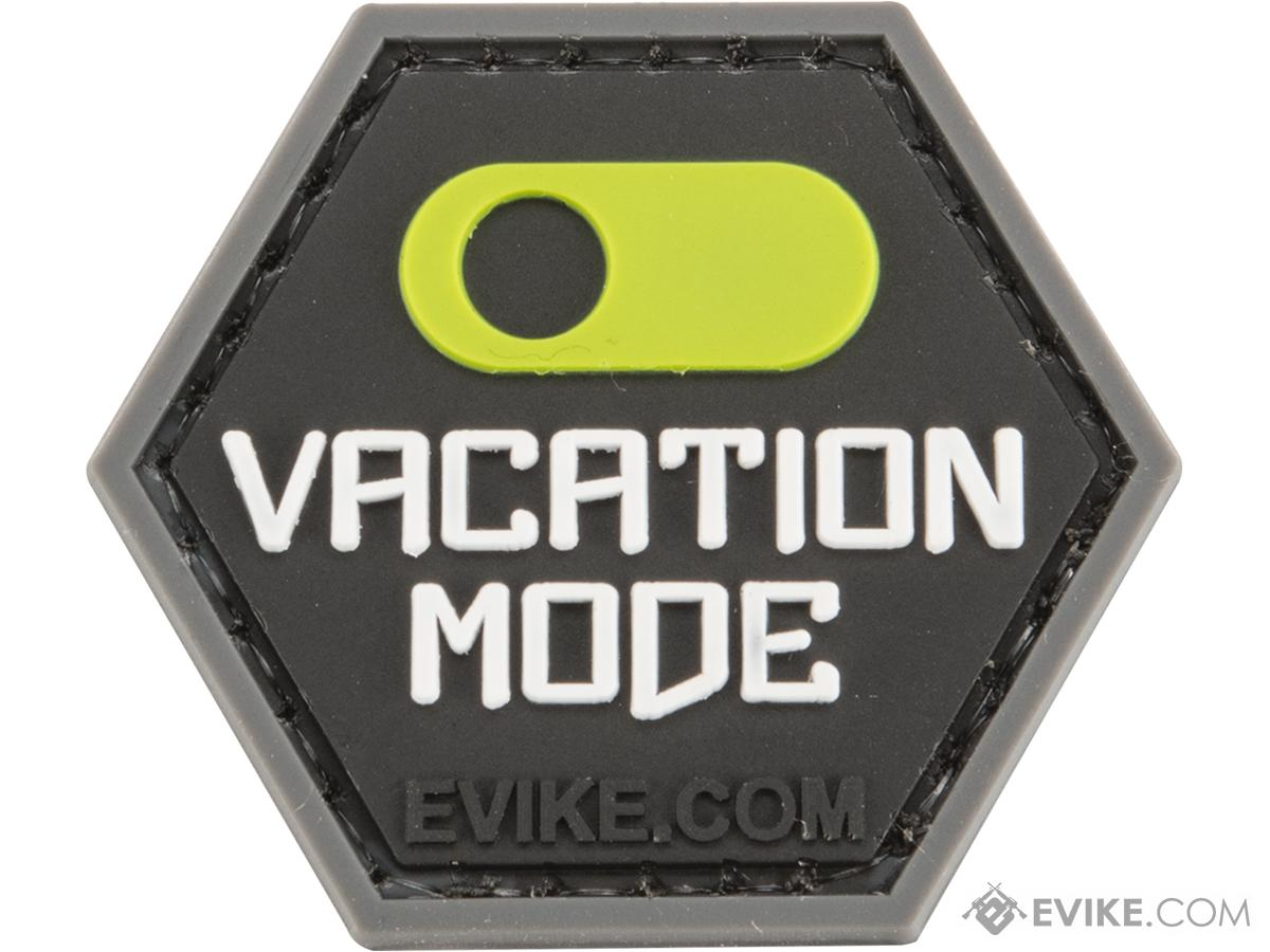 Operator Profile PVC Hex Patch Catchphrase Series (Style: Vacation Mode On)