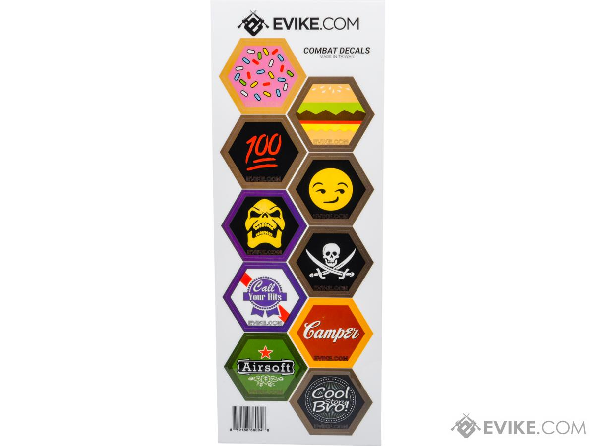 Evike.com Operator Profile Vinyl Hex Decals (Style: Sheet - A)