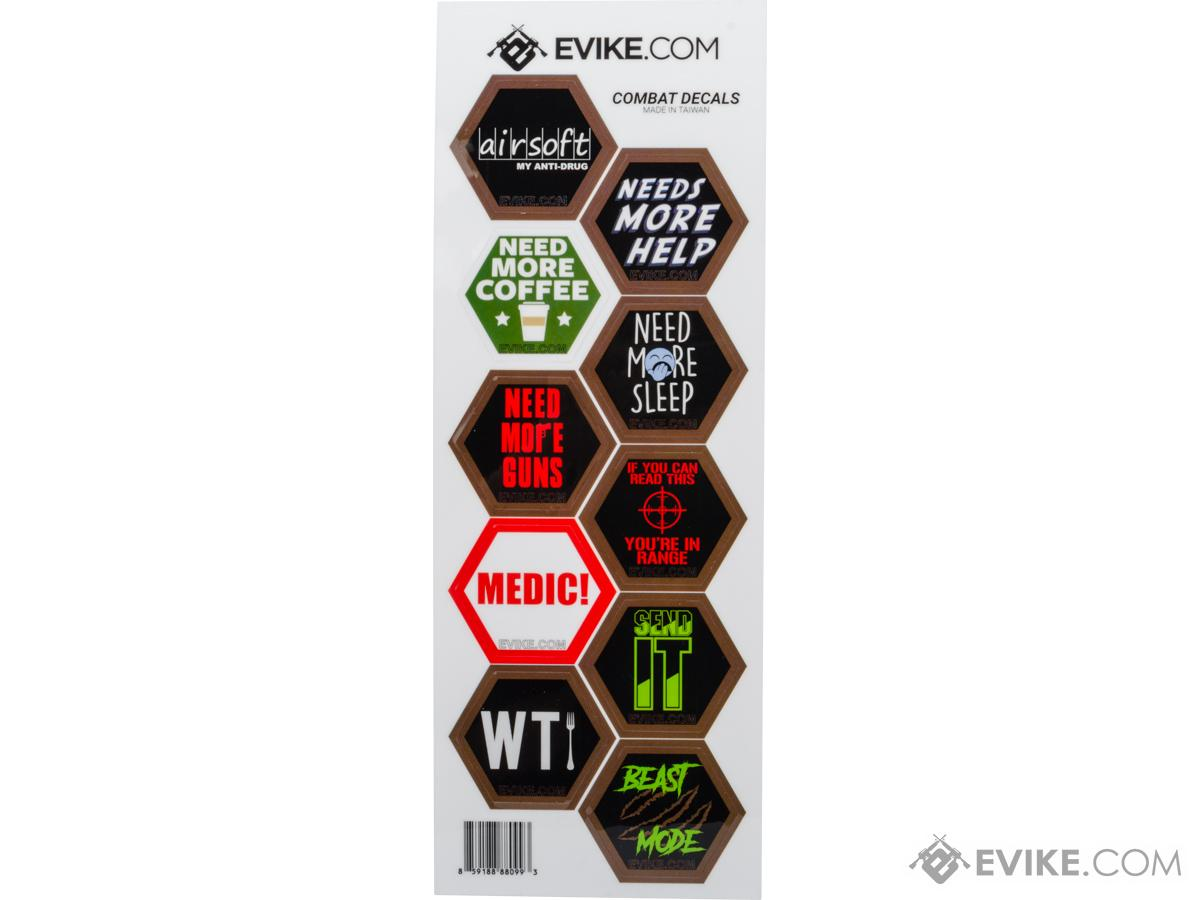 Evike.com Operator Profile Vinyl Hex Decals (Style: I Got Something To Say)