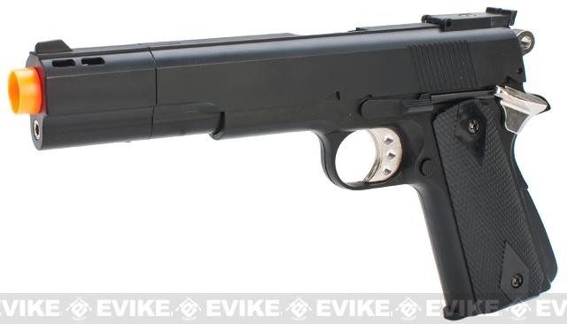HFC M1911 Elite .45 Long Barrel Airsoft Non-Blowback Gas Pistol (Color: Black)