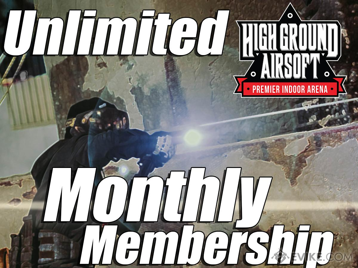 High Ground Airsoft Field Monthly Membership Admission Pass (Ticket: Unlimited Gameplay)