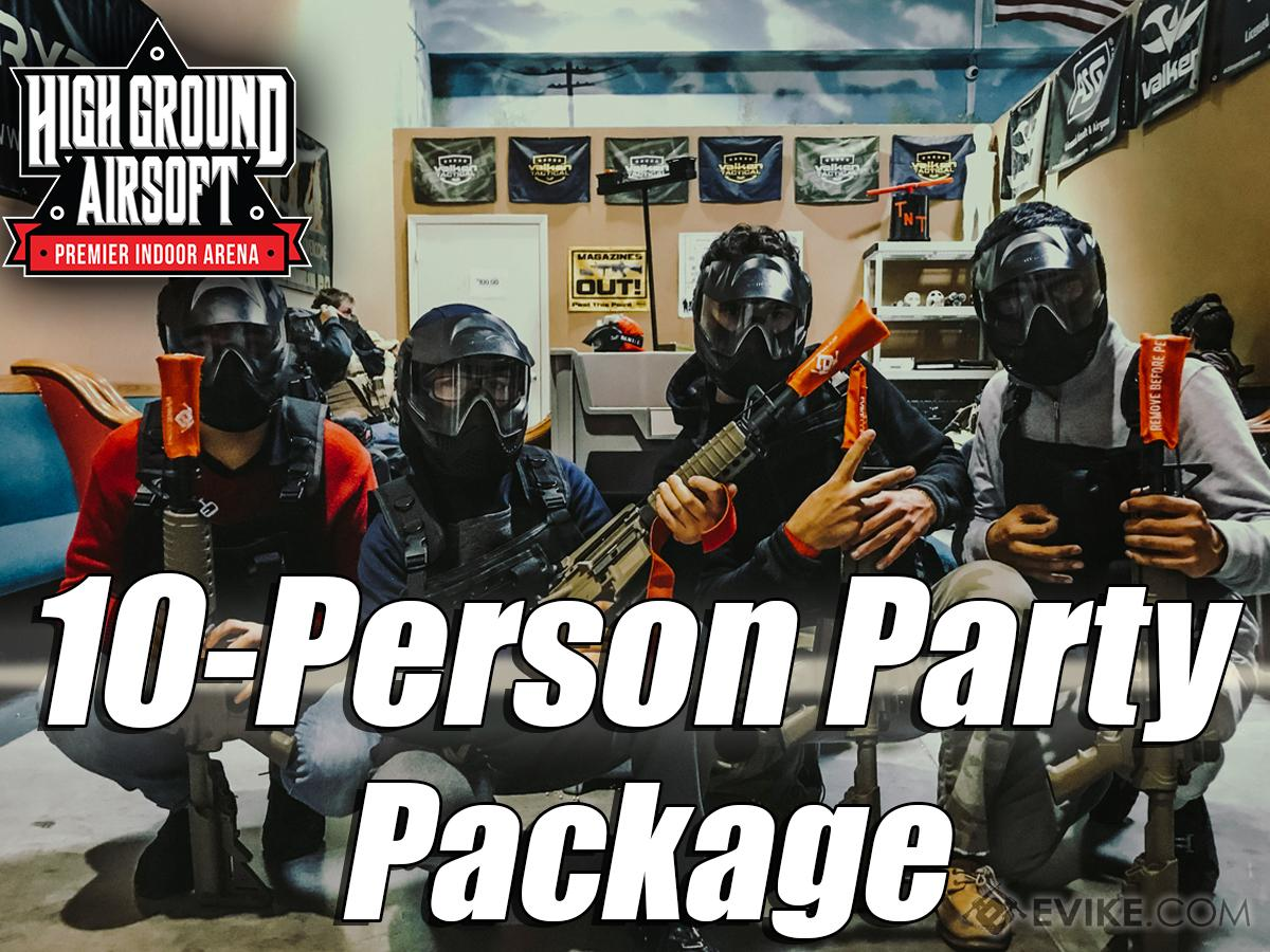 High Ground Airsoft Field Admission Pass (Ticket: 2 Hour 10-Person Party Package)