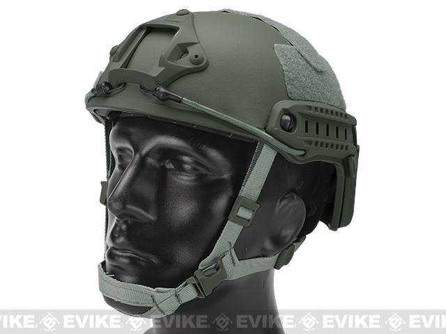 6mmProShop Bump Type Tactical Airsoft Helmet (Type: MICH Ballistic / Advanced / Foliage Green)