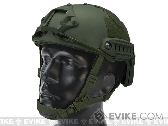6mmProShop Bump Type Tactical Airsoft Helmet (Type: MICH Ballistic / Advanced / OD Green)