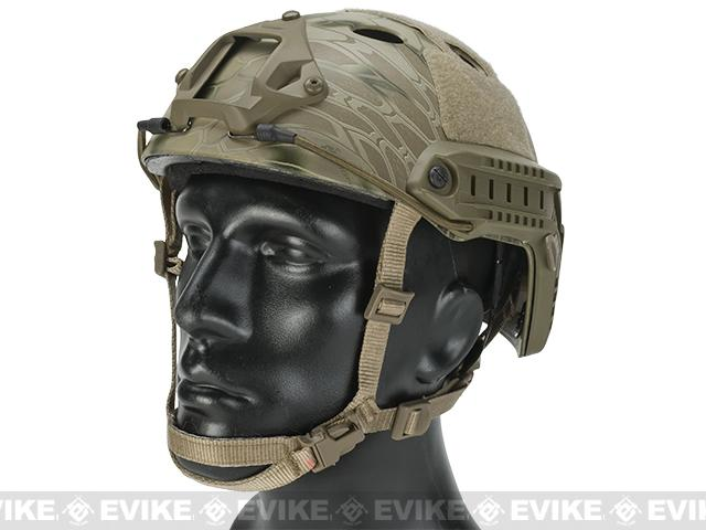 6mmProShop Bump Type Tactical Airsoft Helmet (Type: PJ / Advanced / Kryptek Highlander)