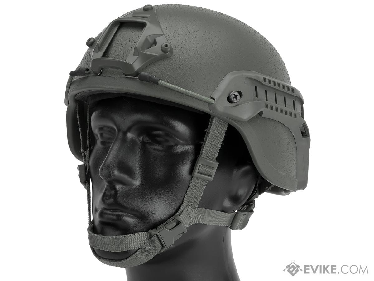 Matrix Mich 2000 Helmet w/ NVG Mount & Side Rail For Airsoft - Grey