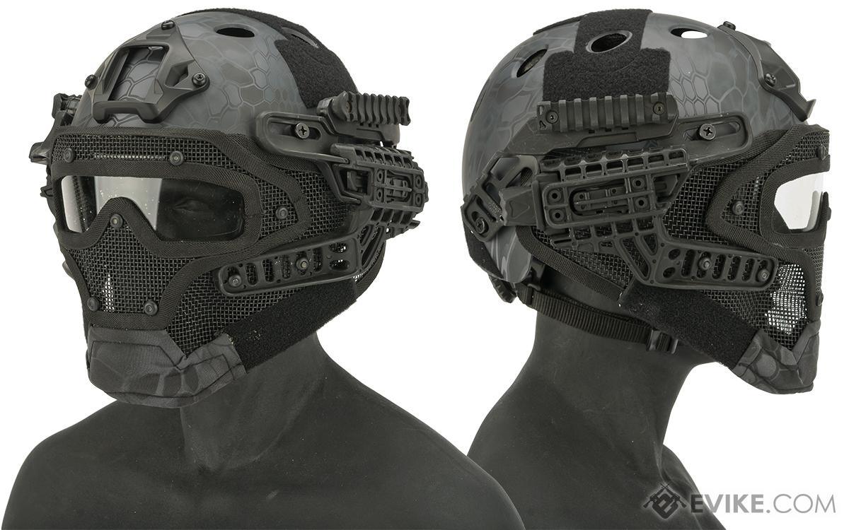 Matrix Legionnaire Full Head Coverage Helmet / Mask / Goggle Protective System (Color: Urban Serpent)